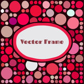 Frame with random colored circles — Stock Vector