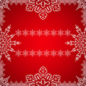 Christmas frame with snowflakes on the edge — Stok Vektör