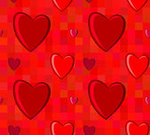 Valentines Day seamless pattern with hearts — Vettoriale Stock