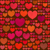 Retro Valentines Day seamless pattern — Stock Vector