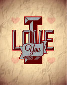 Vintage sign of love — Stock Vector
