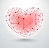 Shiny heart symbol for Valentines Day — Vector de stock