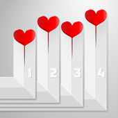 Valentines Day infographics with hearts — Stock Vector