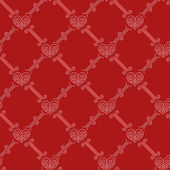 Ornamental seamless pattern with hearts — Stok Vektör