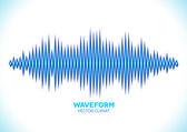 Blue sound waveform — Stock Vector