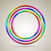 Abstract shiny rainbow colored vector rings — Stock Vector