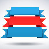 图矢量 3d 的蓝色和红色的缎带 — 图库矢量图片