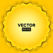 Abstract vector frame with yellow leaves — Stock Vector