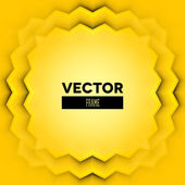 Abstract vector frame with yellow layers — Stockvektor