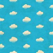 Clouds in the sky. Seamless pattern — Cтоковый вектор