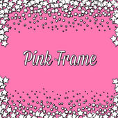 Pink frame with white stars — Stock Photo