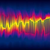 Infrared heat wave — Stock Vector