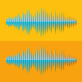 Flat stereo music wave icon — Stock Vector