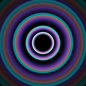 Shiny concentric circles — Stock Vector