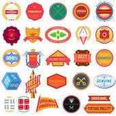 Duży zestaw płaski kolorowy wzór etykiet — Wektor stockowy
