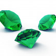 Beautiful emerald gems — Stock Photo