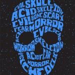 Psychedelic skull — Stock Vector #12401089