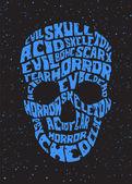 Psychedelic skull — Stock Vector