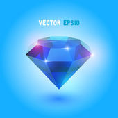 A beautiful sapphire gem — Stock Vector