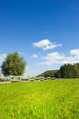 Fence on hill - vertical — Stock Photo