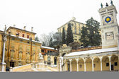 Castel of Udine with snow — Stock Photo