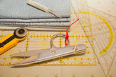 Tools for patchwork — Stock Photo
