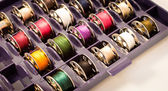 Spools for sewing machine — Stock Photo