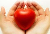 2 手中的心 — 图库照片
