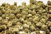 Chinese green tea closeup — Stock Photo