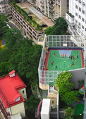 Playing field in Hong Kong — Stock Photo