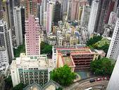 Skycrapers av hong kong från ovan — Stockfoto