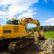 Bulldozer back - horizontal - Stock Photo