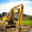 Bulldozer front - vertical - Stock Photo