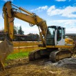 Bulldozer front - horizontal — Stock Photo