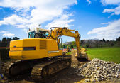 Bulldozer back - horizontal — Stock Photo