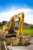 Bulldozer front - vertical — Stock Photo