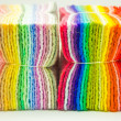 Sets of colored felts - Stock Photo