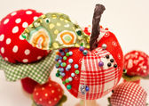 Apple pincushion — Stock Photo