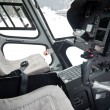 Cockpit of helicopter — Stock Photo