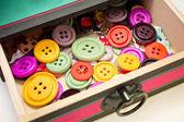 Caja de botones — Foto de Stock