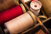 Red and white thread — Stock Photo