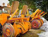 Snowplow - front — Stock Photo