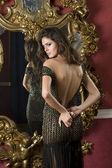 Women unzip dress — Stock Photo