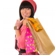 Royalty-Free Stock Photo: Young beautiful girl with shopping bags