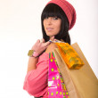 Attractive young girl with shopping bags — Stock Photo #15700835