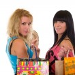 Royalty-Free Stock Photo: Happy girls out shopping