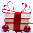 Gift wrapped books for Christmas — Stock Photo #6519759