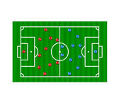 Football formation tactics — Stock Vector