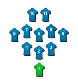 Football formation — Stock Vector