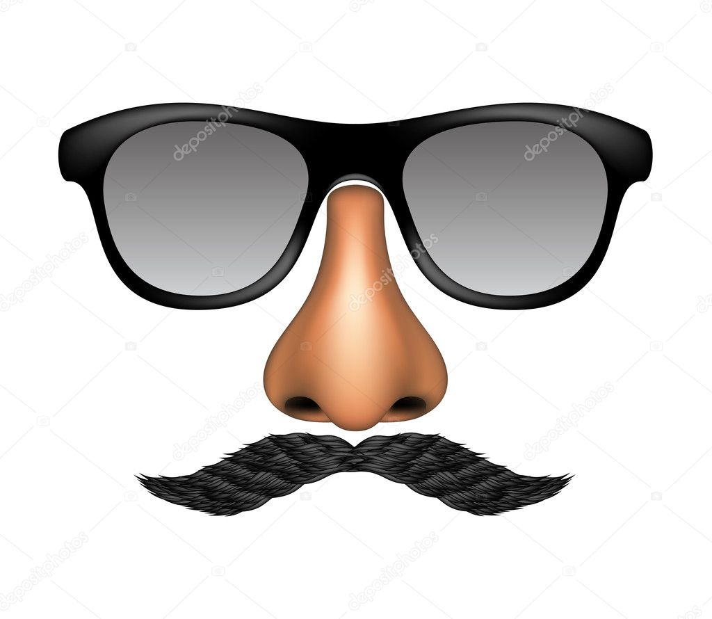 Funny Glasses And Moustache